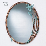 Bamboo Mirror - oval $425