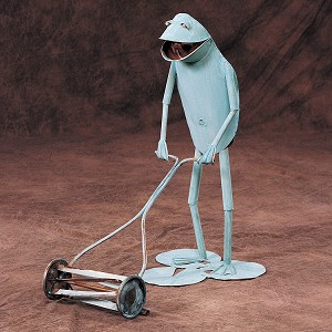 Gardener Frog w/ Push Lawnmower